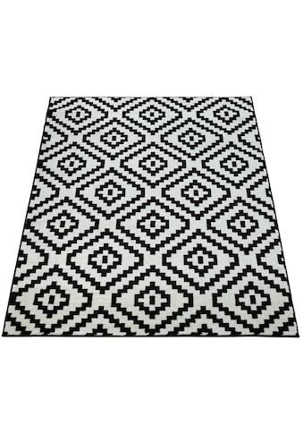 Paco Home Teppich »Stella 400«, rechteckig, 17 mm Höhe, Kurzflor, Rauten Design,... kaufen