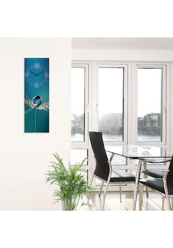 Artland Wanduhr »Glasuhr Pusteblume Tautropfen blau« kaufen