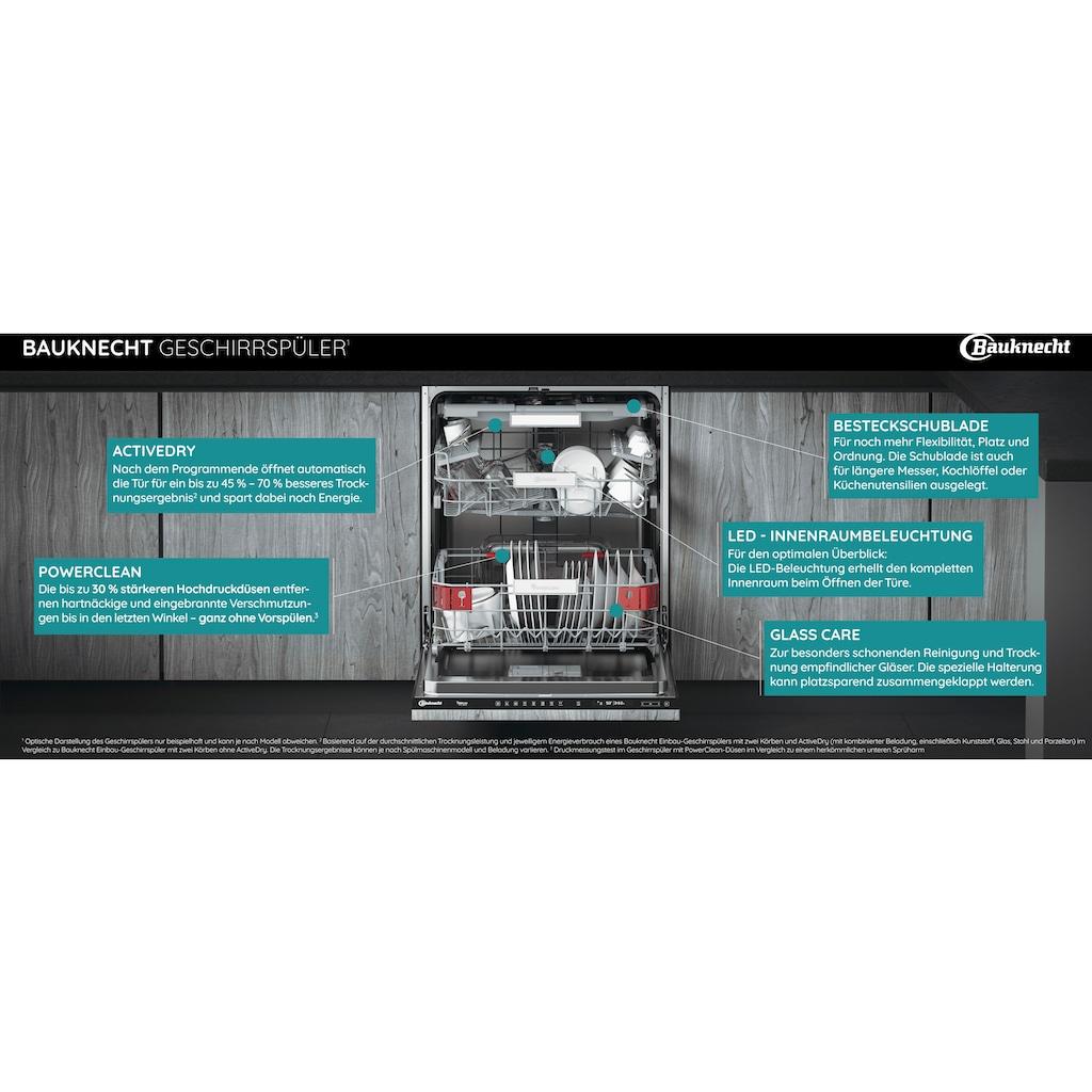BAUKNECHT teilintegrierbarer Geschirrspüler »BBO 3O539 PLGT«, BBO 3O539 PLGT, 14 Maßgedecke