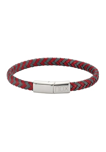 NOX Edelstahlarmband »Edelstahl Leder«, Armband kaufen