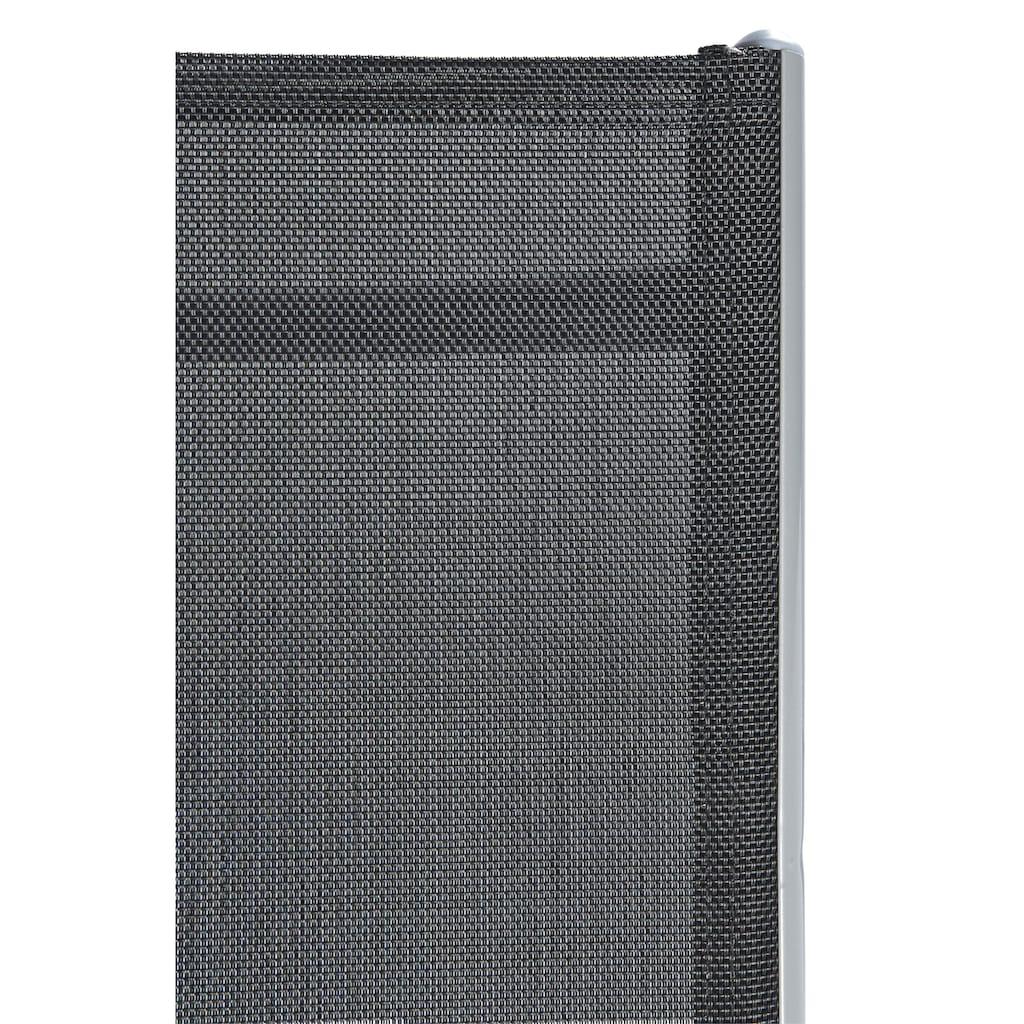 MERXX Gartenstuhl »Lima«, 2er Set, Alu/Textil, verstellbar, schwarz