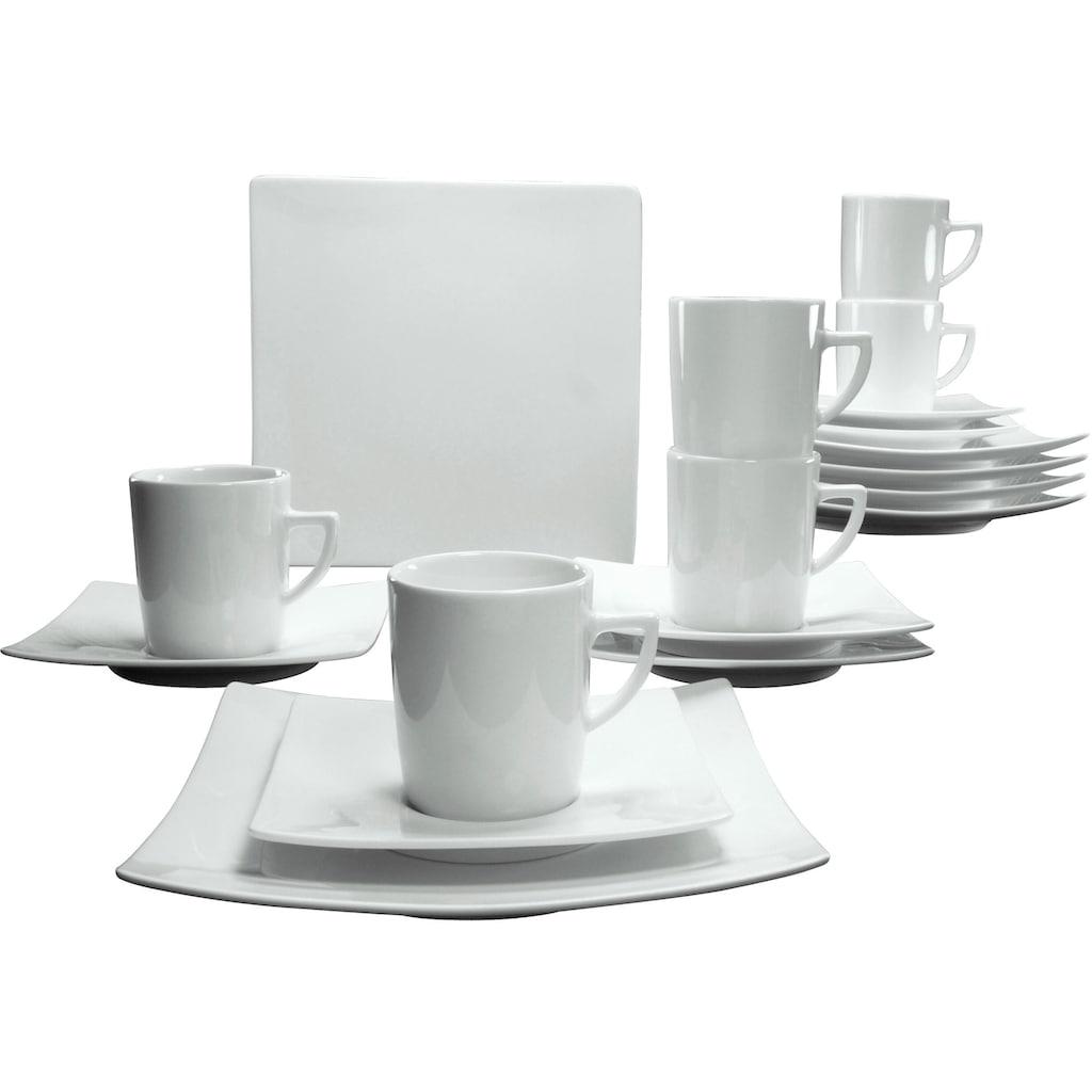 CreaTable Kaffeeservice »Elegance«, (18 tlg.), elegante Form