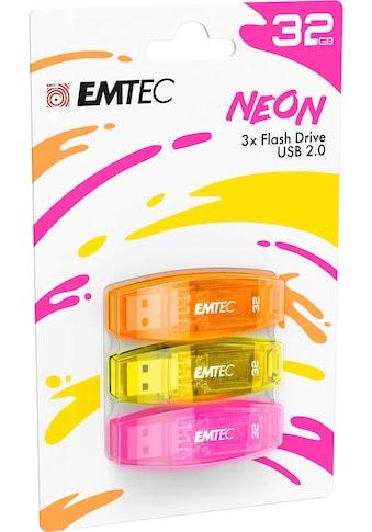 EMTEC »C410 Color Mix 2.0« USB - Stick (USB 2.0, Lesegeschwindigkeit maximal 15 MB/s) kaufen