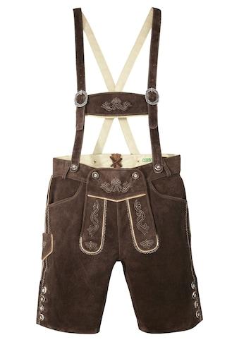 Country Line Trachtenlederhose, (2 tlg., mit Hosenträgern), aus weichem Ziegenveloursleder kaufen