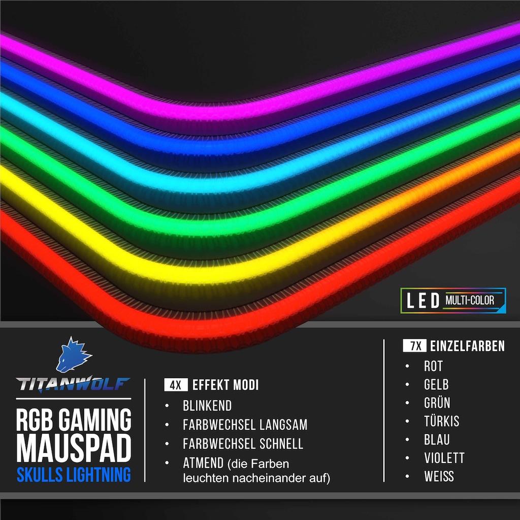 Titanwolf Gaming Mauspad »Mousepad - verbessert Präzision & Geschwindigkeit«, XL 800 x 300 mm