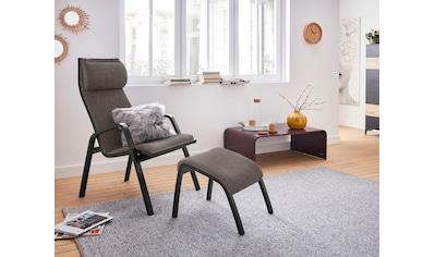 andas Relaxsessel »Goal«, mit Hocker, Fernsehsessel in 3 verschiedenen Bezugsqualitäten kaufen