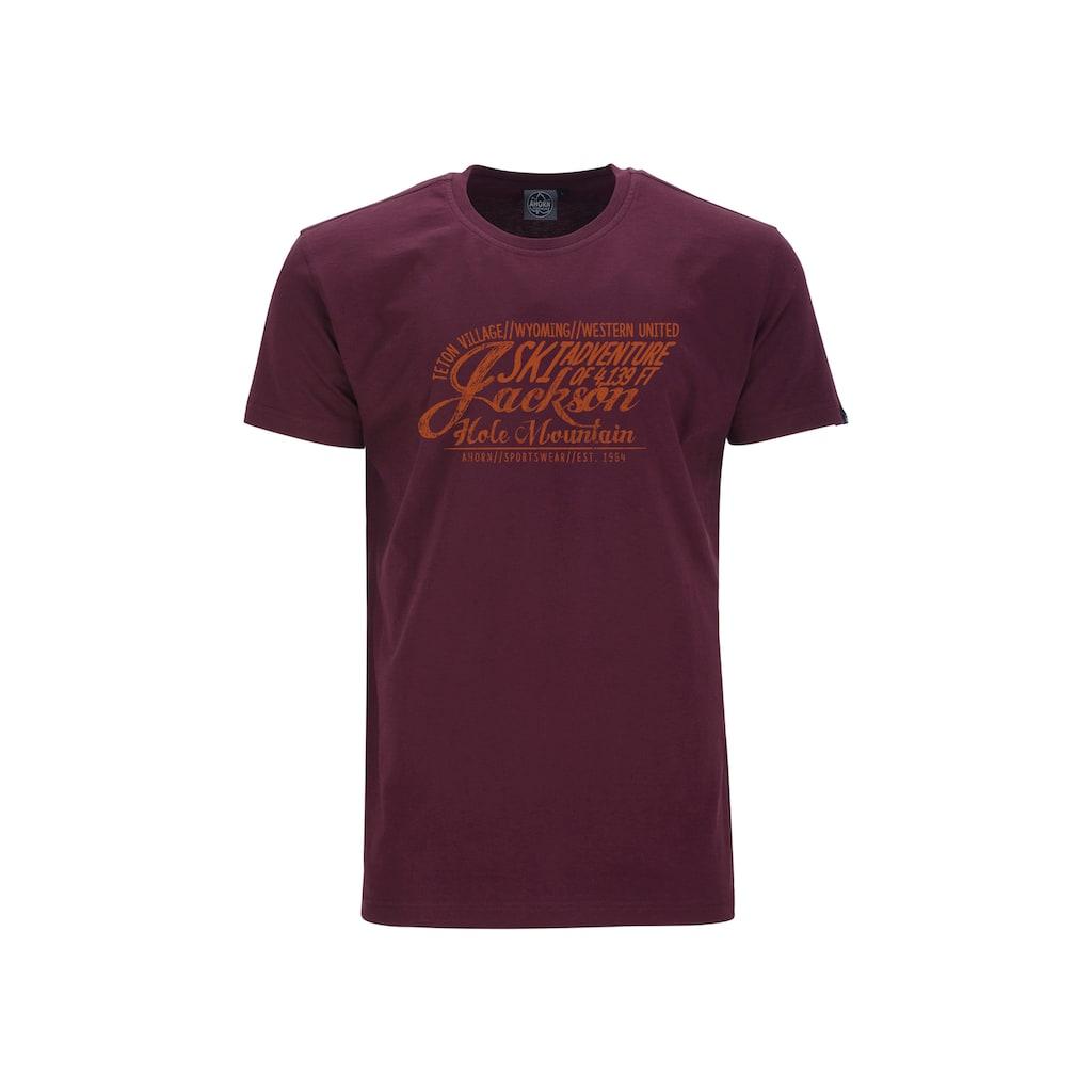 AHORN SPORTSWEAR T-Shirt »JACKSON ADVENTURE«, mit modischem Print