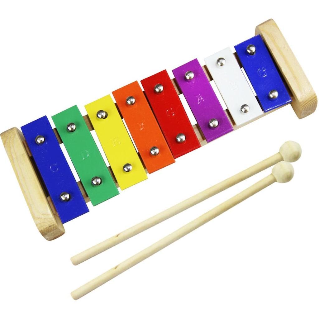 Clifton Spielzeug-Musikinstrument »Metallophon«, mit 8 Tönen und Kinderlieder CD, Karaoke CD mit Heft