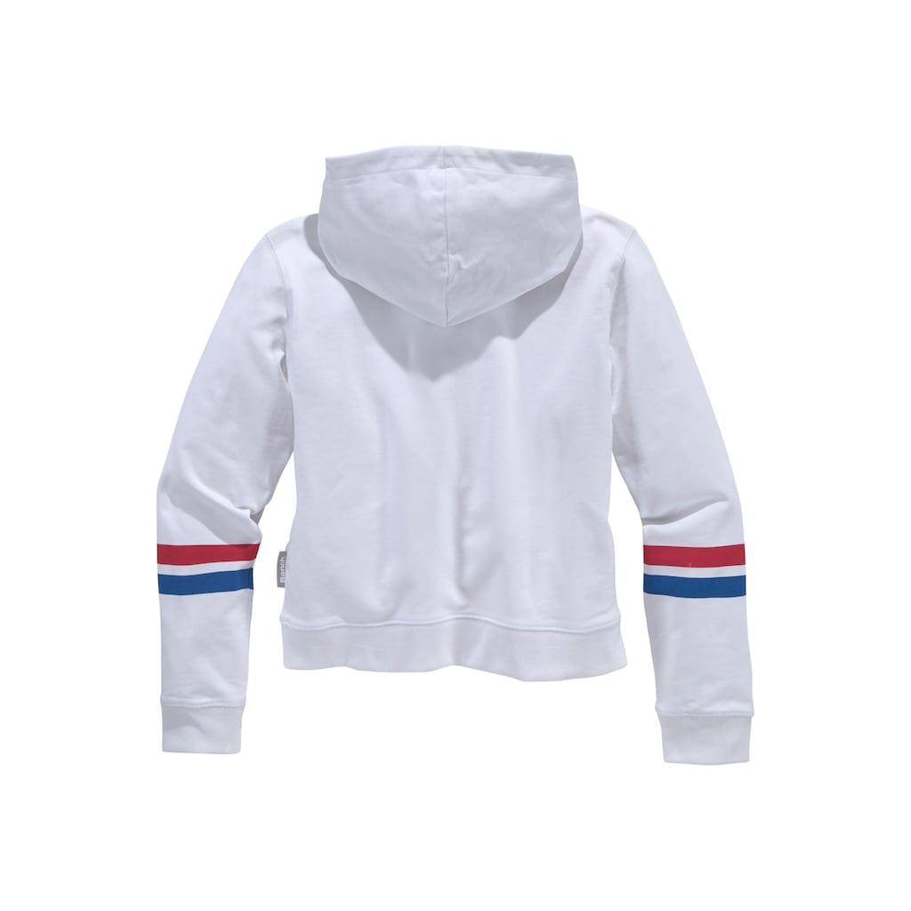 Bench. Kapuzensweatshirt, in kurzer Passform mit Kapuze