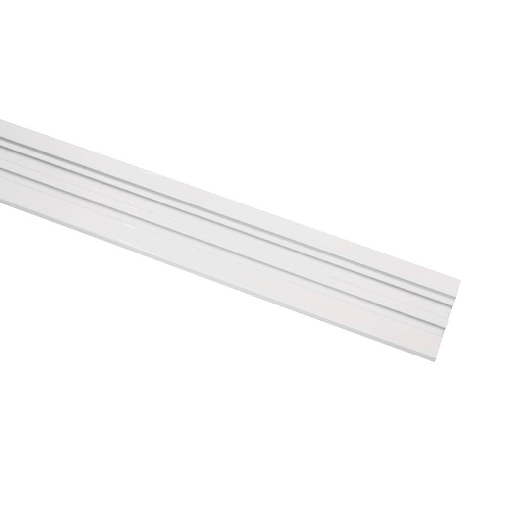 GARDINIA Vorhangschiene, 1 läufig-läufig, Fixmaß, Serie Aluminim-Vorhangschiene