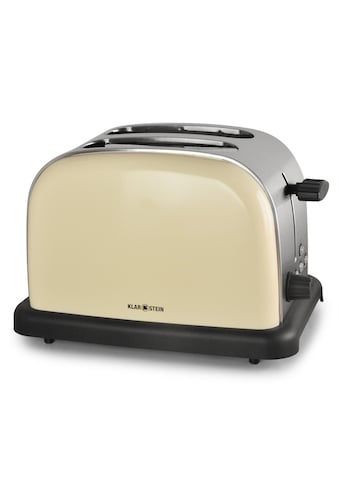 Klarstein Toaster 2 Scheiben 6 Stufen Retro Breitschlitz aufwärmfunktion »TK BT 318 V« kaufen