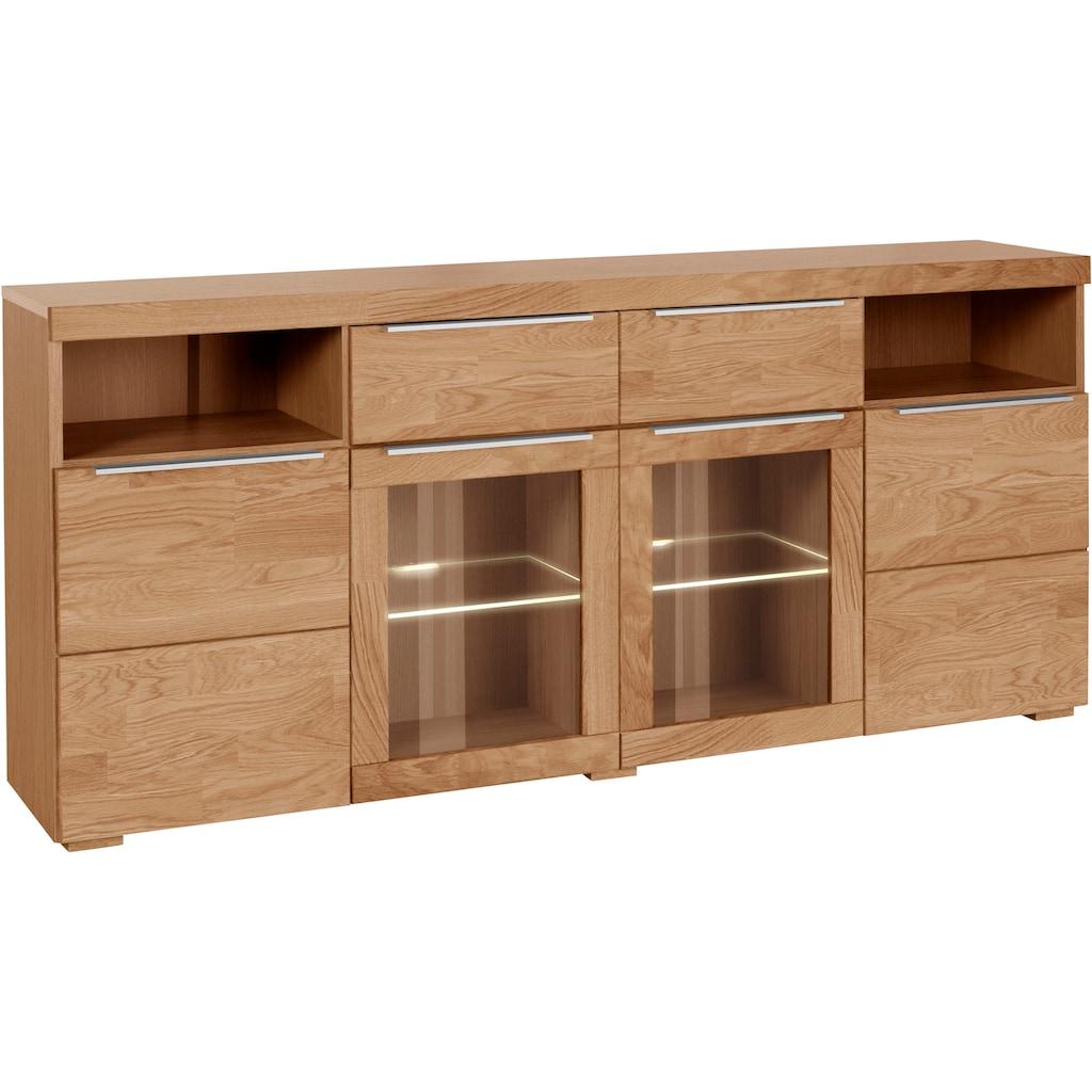 Woltra Sideboard »Murani«, Fronten aus Massivholz
