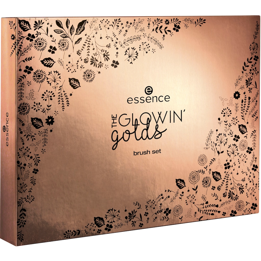 Essence Kosmetikpinsel-Set »THE GLOWIN' golds brush«, (11 Augen- & Gesichtspinsel)