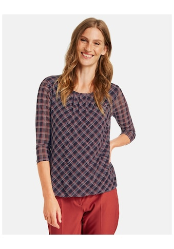 GERRY WEBER 3/4 - Arm - Shirt »Kariertes 3/4 Arm Shirt« kaufen