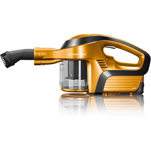 CLEANmaxx Akku-Hand-und Stielstaubsauger 2in1 14,8V gold/schwarz mit Gelenk-Saugrohr, 150 Watt, beutellos