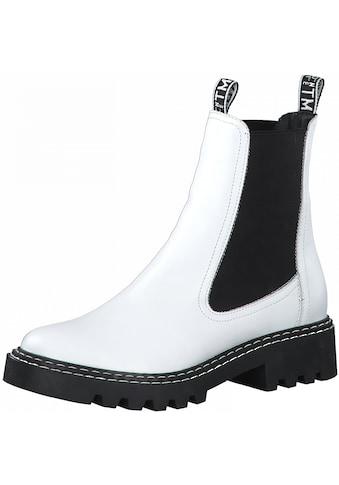 Tamaris Chelseaboots »MATTINA«, im Kontrast-Look kaufen
