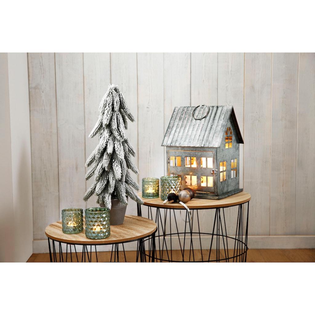 Kunstbaum »Tanne im Topf«, mit dekorativem Schnee