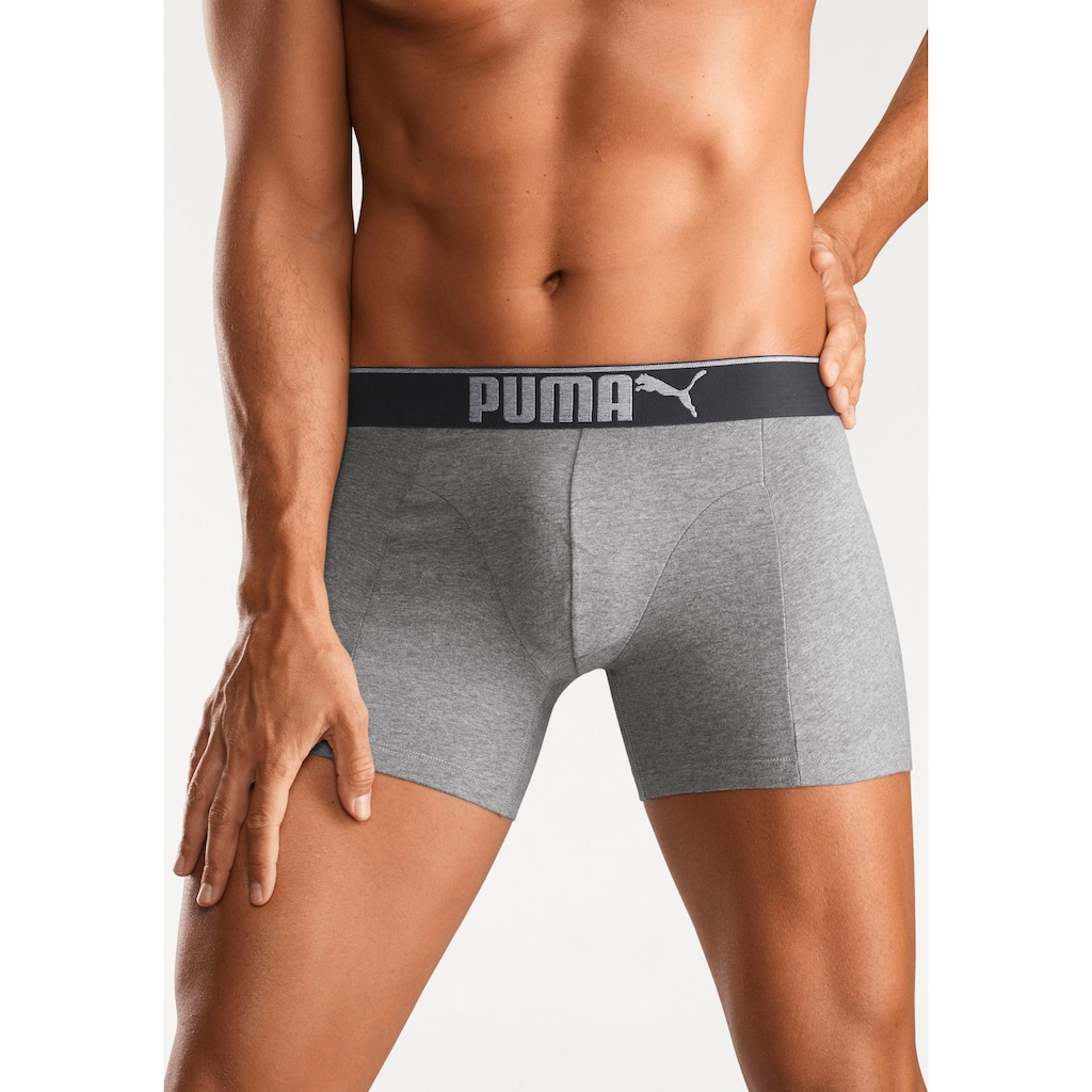 PUMA Boxer »Lifestyle Sueded Cotton Boxer 3P«, (3 St.)