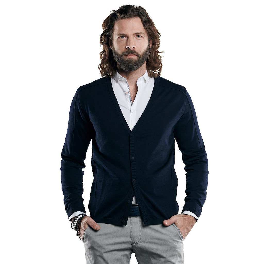emilio adani Cardigan aus hochwertigem Pima Cotton Garn