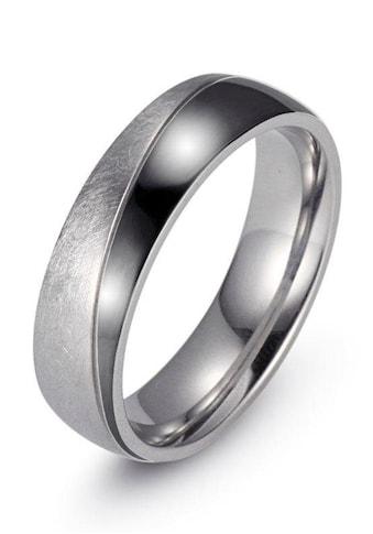 Firetti Trauring »7,0 mm, mit Vertiefung, teilweise IP-beschichtet, schwarz, glänzend,... kaufen
