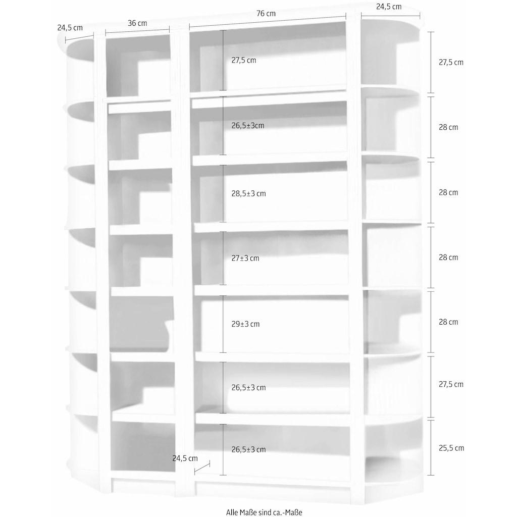 Home affaire Regal »Soeren«, (4-tlg.), Höhe 220 cm, Tiefe 29 cm