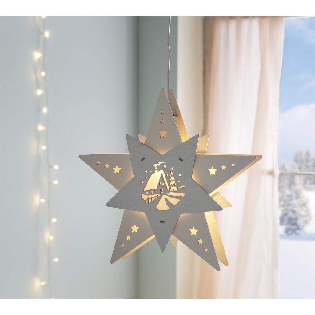 Weigla Beleuchtetes Fensterbild, »Waldhütte«, (1-tlg.)