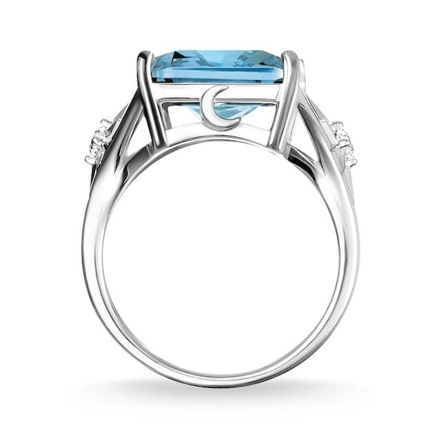 THOMAS SABO Silberring »Stein blau groß mit Stern, TR2261-644-31-52, 54, 56, 58, 60«