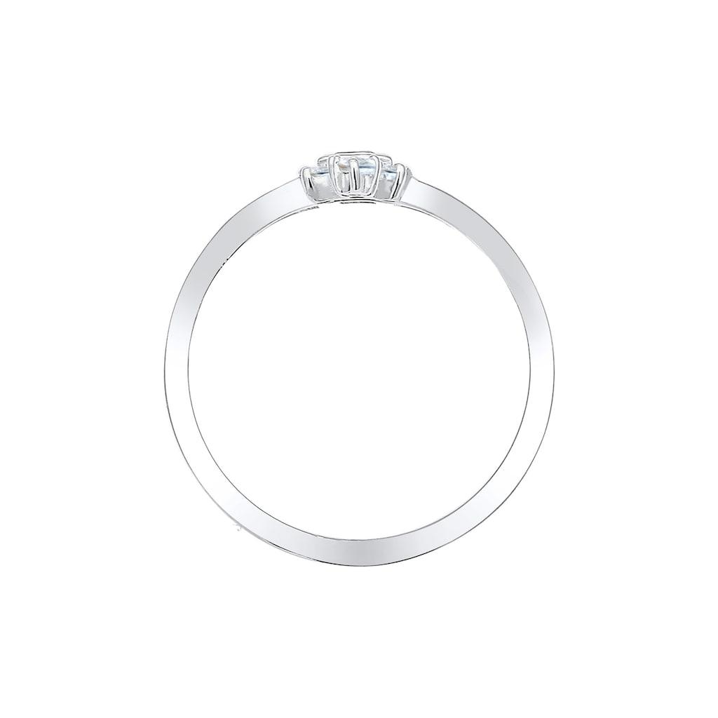 Elli Verlobungsring »Verlobung Liebe Vintage Topas Edelstein 925 Silber«