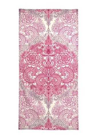 Juniqe Handtuch »Happy Place Doodle in Pink«, (1 St.), Weiche Frottee-Veloursqualität kaufen