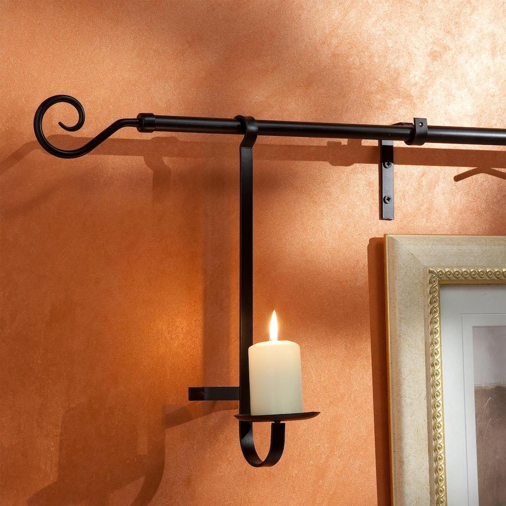 Liedeco Kerzenhalter für Gardinenstangen, für Gardinenstangen Ø 16 mm