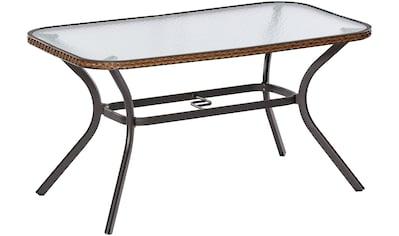 MERXX Gartentisch »Ravenna«, Polyrattan, 150x85 cm, braun kaufen
