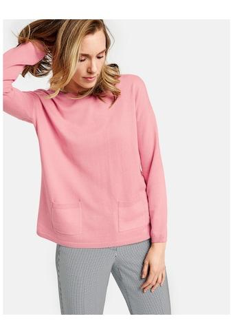 GERRY WEBER Pullover Langarm Rundhals »Pullover mit Wolle« kaufen
