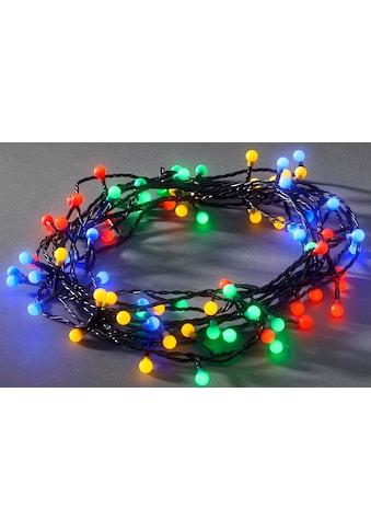 KONSTSMIDE LED-Lichterkette, LED Globelichterkette für den Außenbereich, 160 bunte und... kaufen
