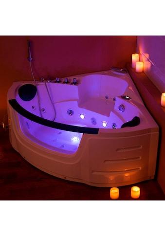 "HOME DELUXE Whirlpool - Badewanne ""White L Mini"" (Komplett - Set, 4 - tlg.) kaufen"