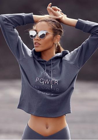LASCANA ACTIVE Kapuzensweatshirt, mit Rippbündchen kaufen