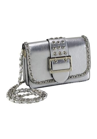 Tasche im Metalliclook mit dekortaiven Elementen kaufen
