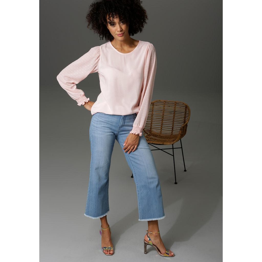 Aniston CASUAL 7/8-Jeans, mit leicht ausgefranstem Beinabschluss