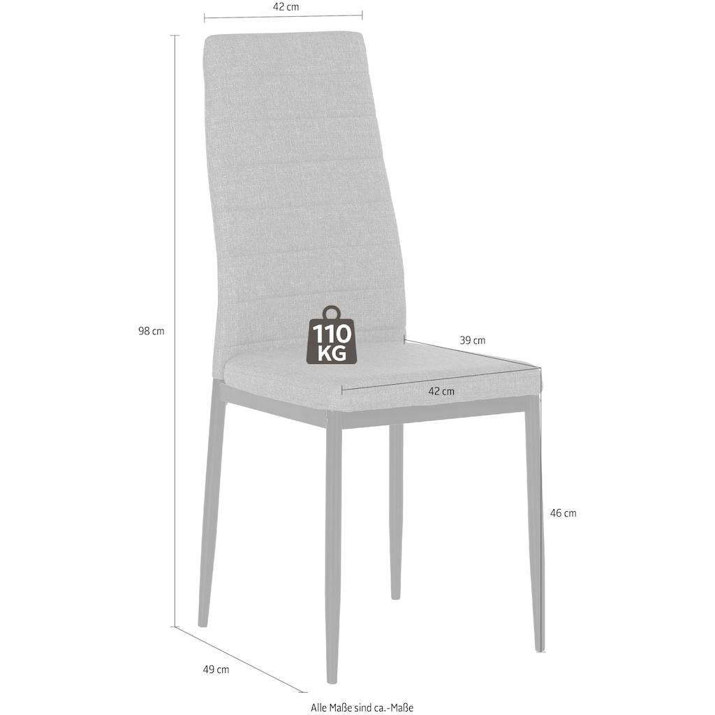 Homexperts Esszimmerstuhl »Zeus«, (2 oder 4 Stück), Bezug in Webstoff