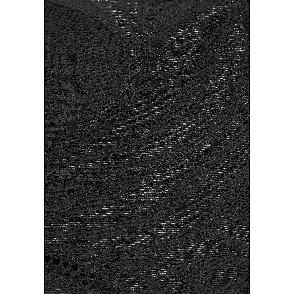 Nuance Push-up-BH, mit Trägern in Bänderoptik und Metallperlen im Antiklook