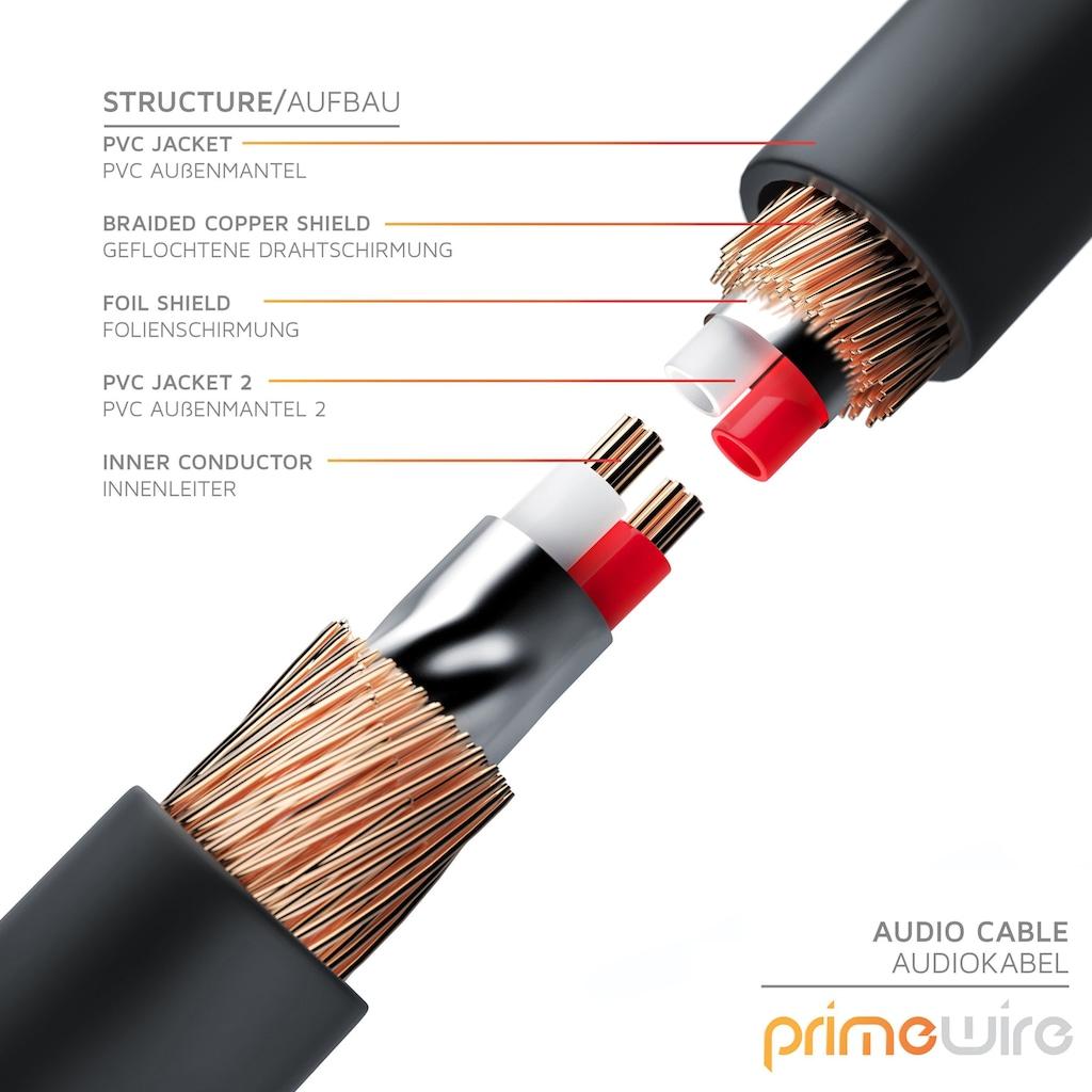 Primewire Premium Stereo Audio 3,5mm Klinke Y-Adapter »2x 3,5mm Klinken-Buchse auf 3,5mm Stecker«