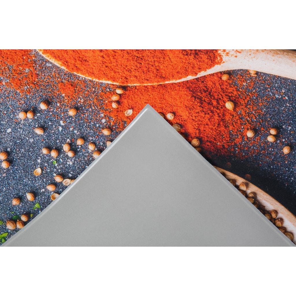 Andiamo Küchenläufer »Gewürze«, rechteckig, 3 mm Höhe, Läufermatte aus Vinyl, abwischbar, rutschhemmend, Motiv Gewürze, Größe 50x150 cm, Küche