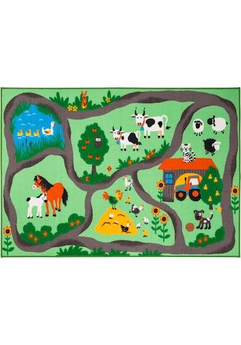 Andiamo Kinderteppich »Bauernhof«, rechteckig, 6 mm Höhe, Kurzflor, Straßen-Spielteppich kaufen