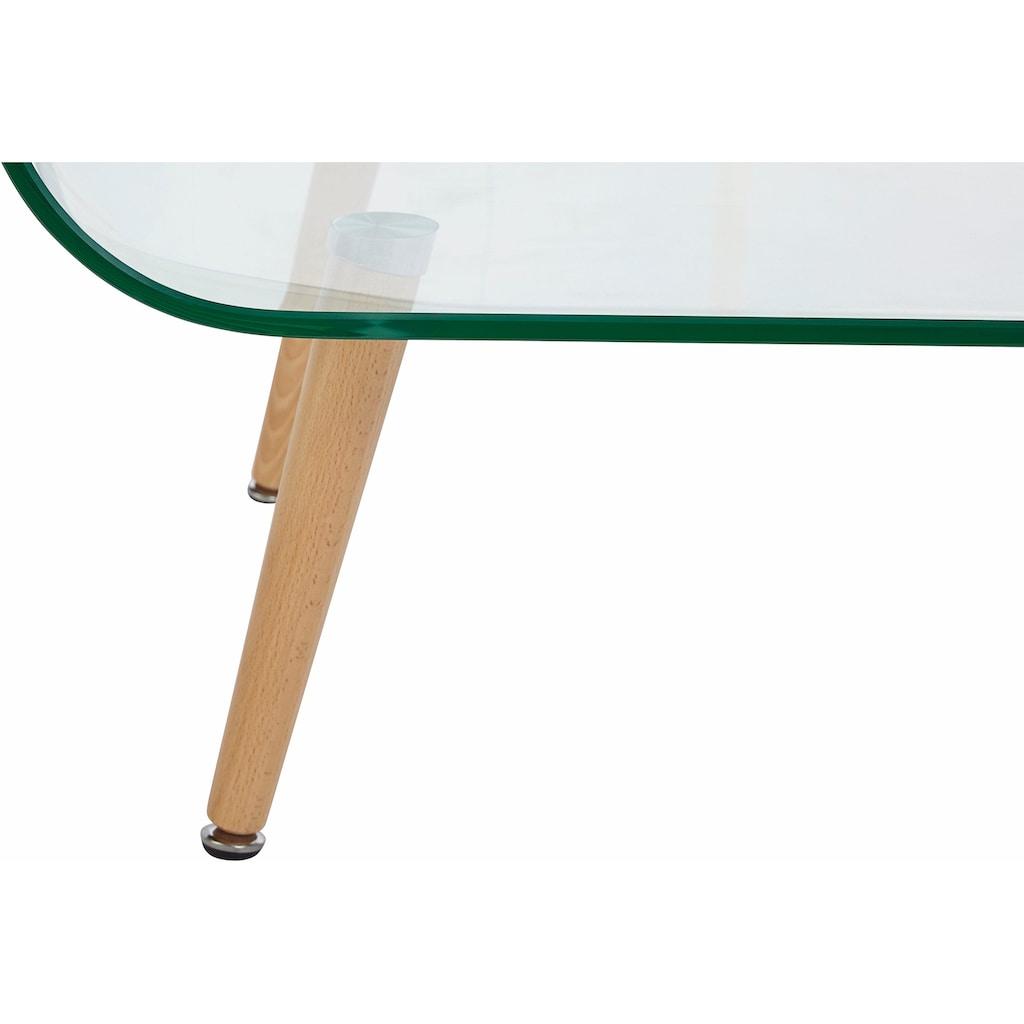 Paroli Couchtisch, mit Klarglasplatte