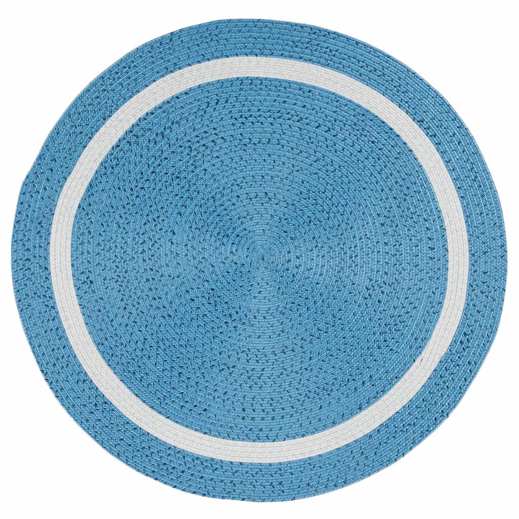Gino Falcone Teppich »Benito«, rund, 6 mm Höhe, handgewebt, In- und Outdoor geeignet, Wohnzimmer