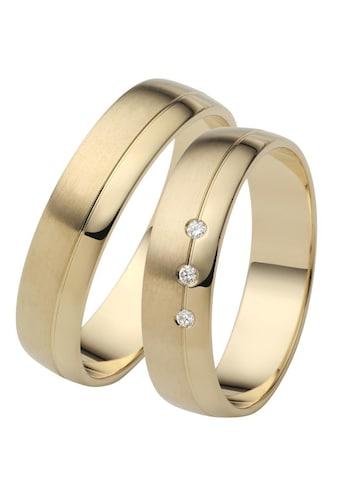 Firetti Trauring mit Gravur »5,0 mm, glanz, seidenmatt, Diamantschnitt« kaufen