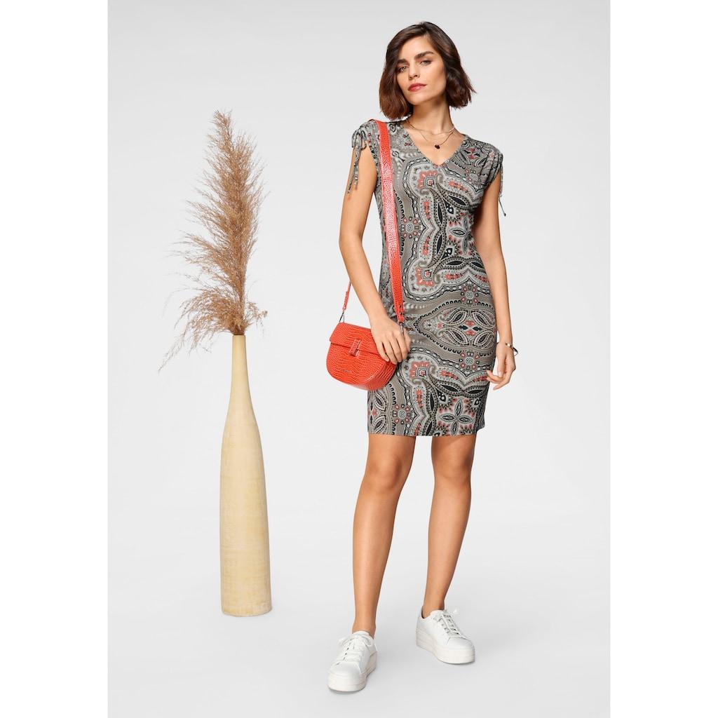 Tamaris Jerseykleid, mit Schulterschnürung