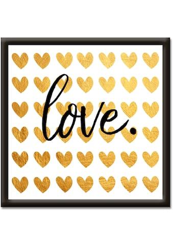 Artland Wandbild »Goldene Liebe«, Sprüche & Texte, (1 St.) kaufen
