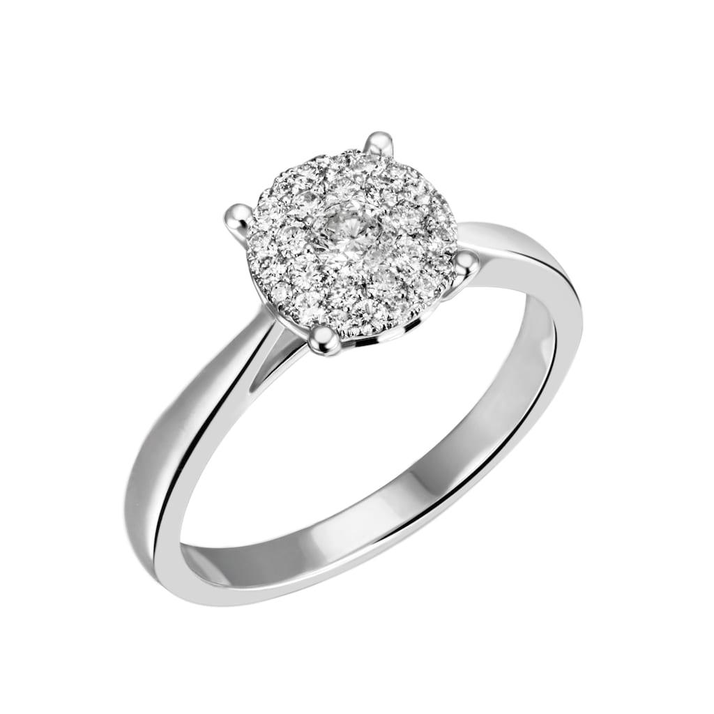 Firetti Diamantring »Solitär, ca. 2,40 mm breit, Glanz, massiv«, mit Brillanten
