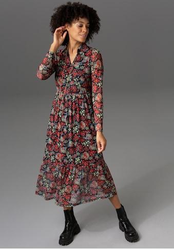 Aniston CASUAL Blusenkleid, mit farbenfrohem Blumendruck - NEUE KOLLEKTION kaufen
