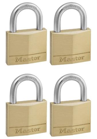 MASTER LOCK Vorhängeschloss 40 mm aus Messing, 4er Pack gleichschließend kaufen